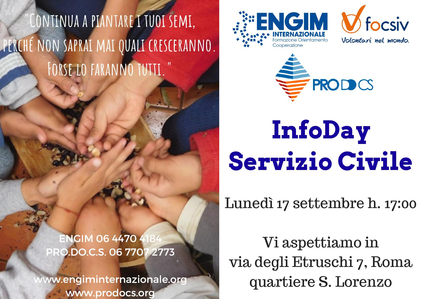 Infoday 17 settembre con PRO.DO.C.S.